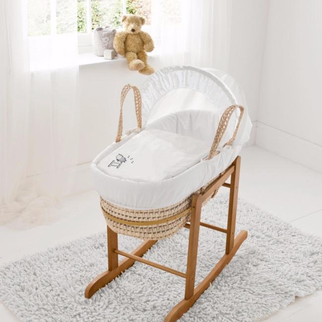 couffin avec support couffin bascule en bois naturel. Black Bedroom Furniture Sets. Home Design Ideas